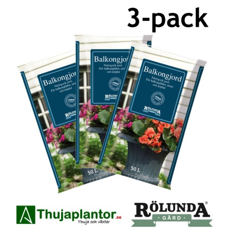 SPECIAL BALKONGJORD 50L - 3-PACK